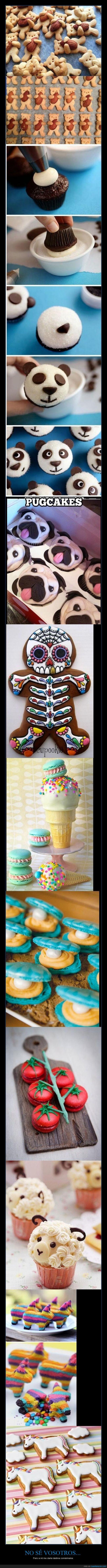 pasteles comidas