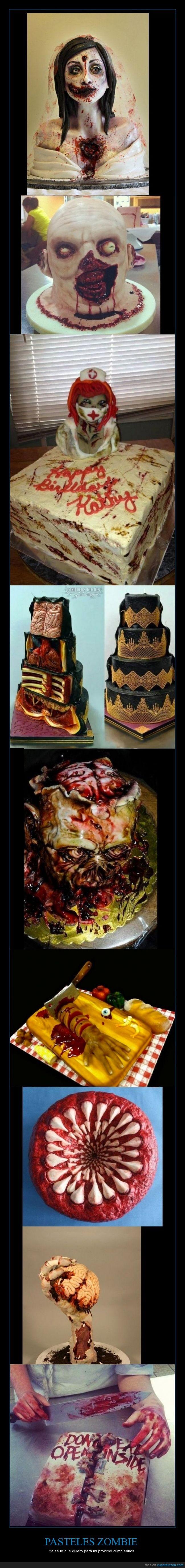 pasteles zombie