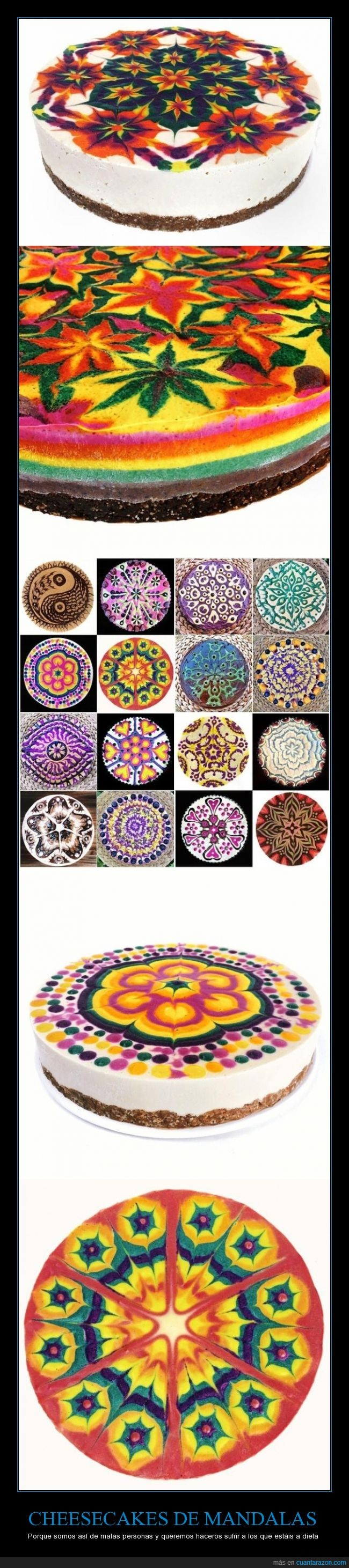 cheesecakes mandalas