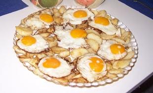 huevos plancha manzanas