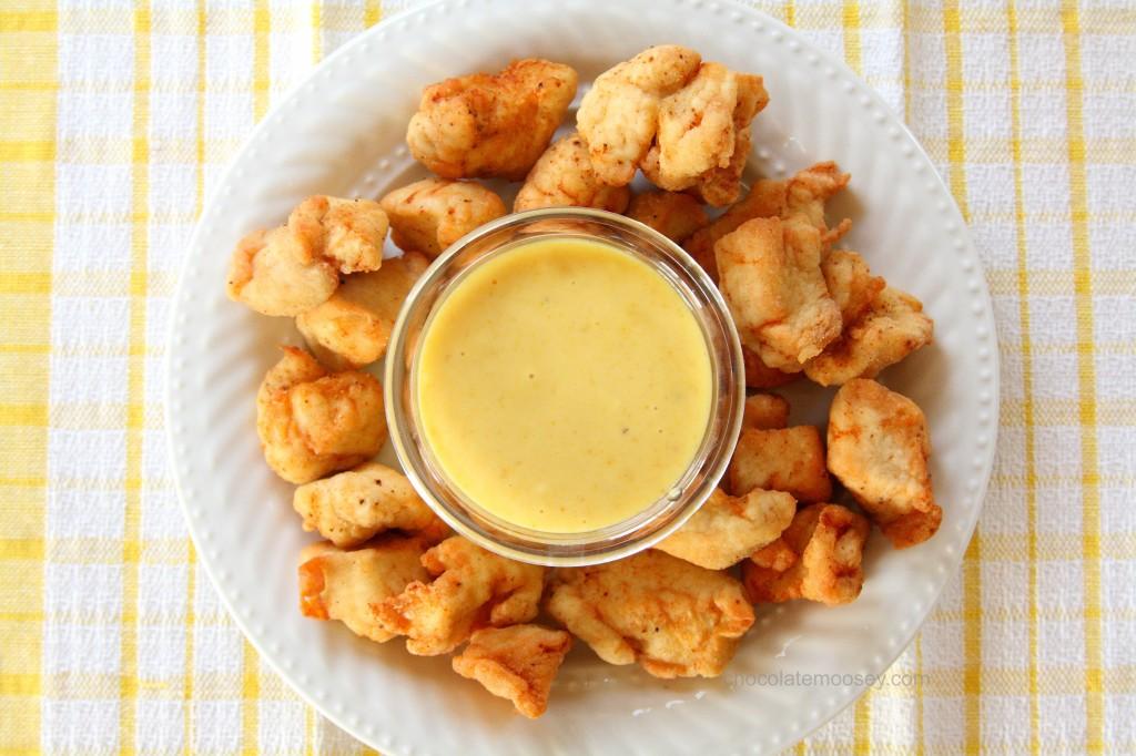 salsa mostaza pollo frito
