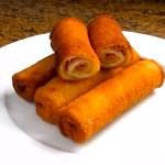 Flamenquines caseros con pan de molde