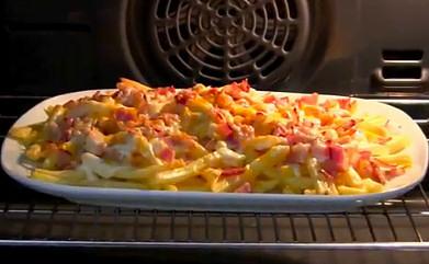 Resultado de imagen de beicon y patatas con queso