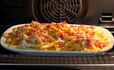patatas-fritas-bacon-pavo-queso
