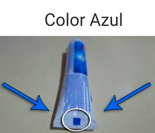 pasta dental azul