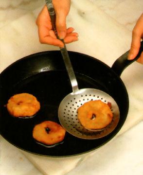 bunuelos manzana fritos