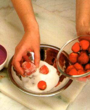 charlota fresas preparacion
