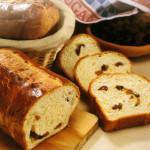 Pan brioche con pasas