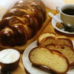 Pan brioche trenzado