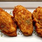 Pechuga de pollo o pavo empanada Villaroy