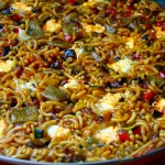 Receta con fideua de verduras con queso