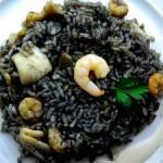 Receta de arroz negro con pulpo y gambas