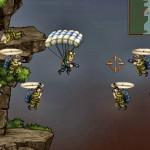 Juego de guerra en paracaídas