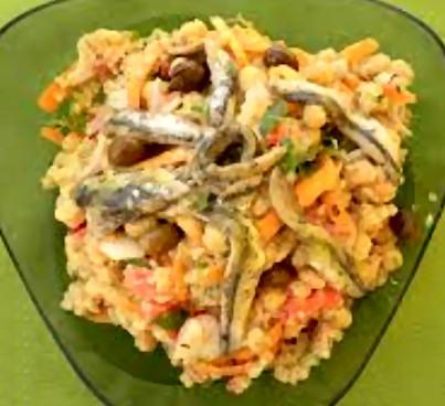 Receta ensalada con garbanzos y anchoas