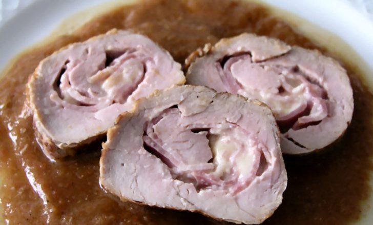 Receta, solomillo de cerdo relleno con queso y bacon2