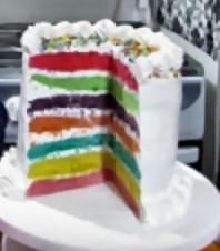Vídeo receta de una torta arcoiris2