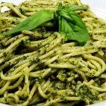 Receta de unos espaguetis al pesto