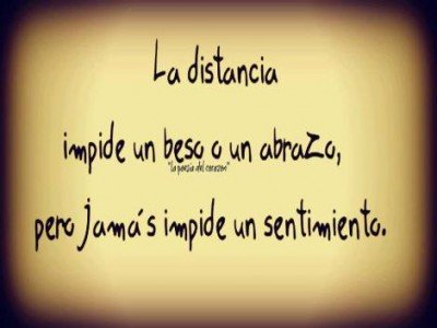 amor de distancia