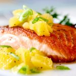 Receta de salmón en salsa naranja