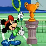 Juego de tenis con personajes de disney