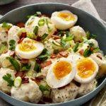 Ensalada de patatas, zanahorias y judías verdes