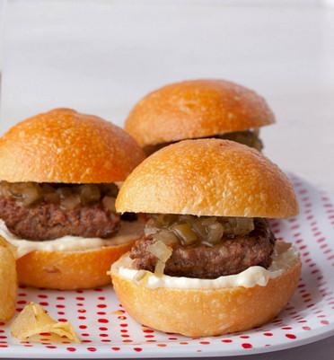 casera-pequenas-hamburguesas