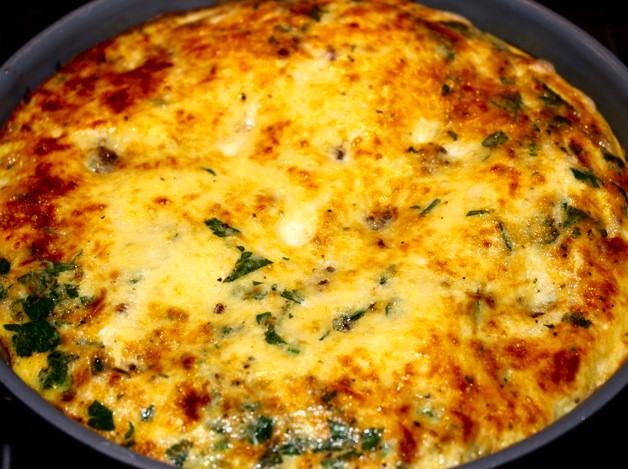 frittata cuatro quesos