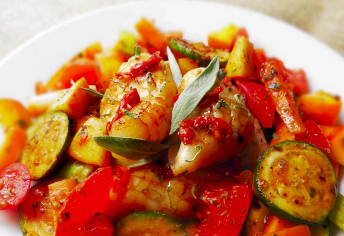 sepia-plancha-pisto-verduras