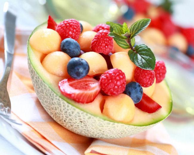 macedonia frutas melon