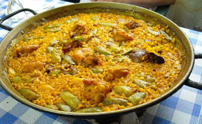 Resultado de imagen de paella valenciana carne