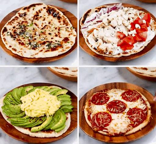 masa pizzas yogur harina