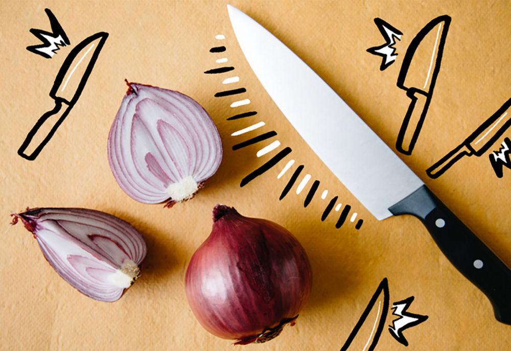 cortar cebollas corte