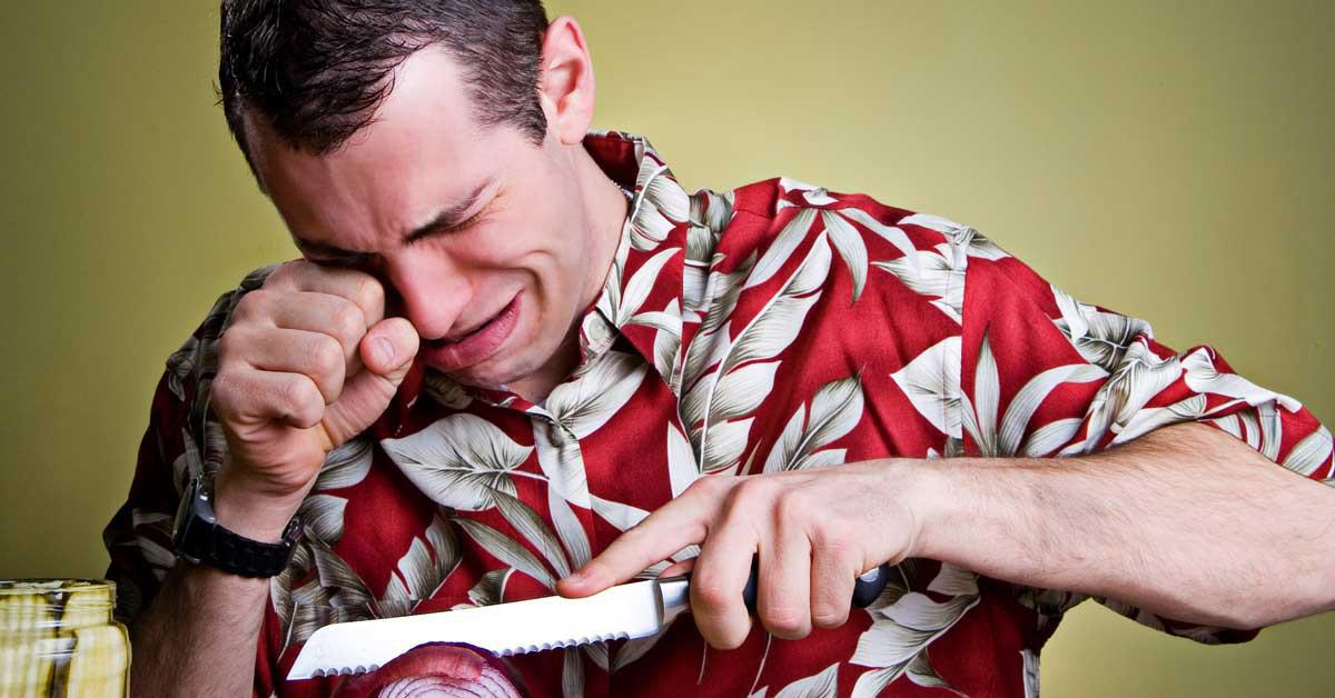 cortar cebollas llorar