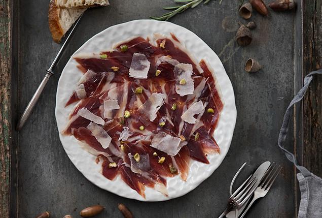 jamon iberico parmesano pistachos