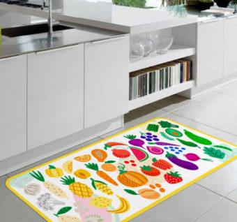 alfombra vinilica frutas