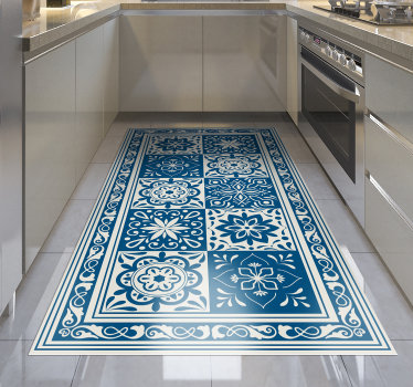 alfombra vinilica geometrica