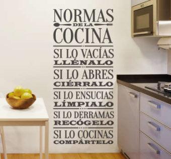 frases cocina vinilo