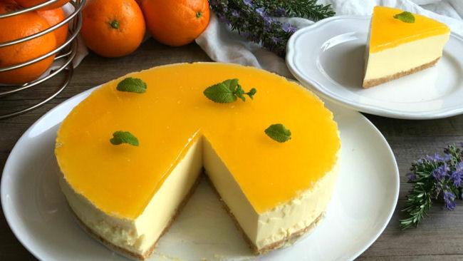 tarta naranja queso