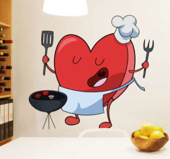 vinilos cocina corazon